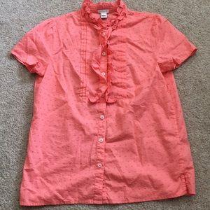 J Crew Factory poplin blouse